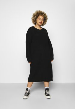 Noisy May Curve - NMLUCIA DRESS - Sukienka dzianinowa - black
