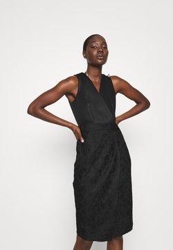 Closet - WRAP TOP PENCIL DRESS - Etuikjole - black