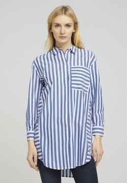 TOM TAILOR - MIT STREIFEN - Hemdbluse - blue offwhite vertical stripe