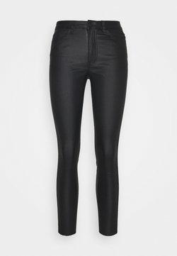Object Petite - OBJBELLE COATED PANTS - Jeans Skinny Fit - black