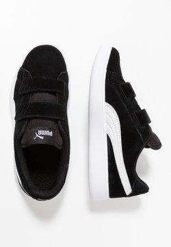 Puma - SMASH - Matalavartiset tennarit - black/white