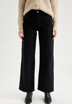 DeFacto - Jeans a zampa - black