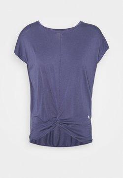 Deha - KNOT - Print T-shirt - moonlight avio blue