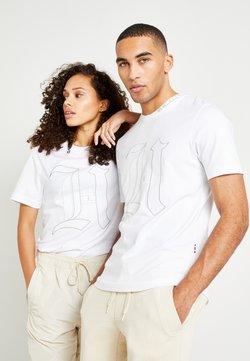 Tommy Hilfiger - UNISEX LEWIS HAMILTON TEE - T-Shirt print - white