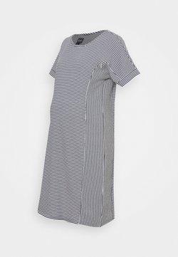 GAP Maternity - ROLL CUFF ZIP ACCESS NURSING DRESS - Sukienka dzianinowa - navy/white