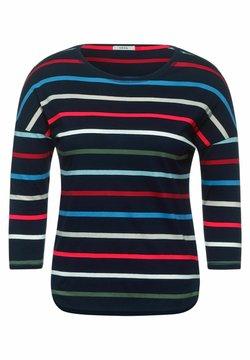 Cecil - MIT STREIFEN - Langarmshirt - blau