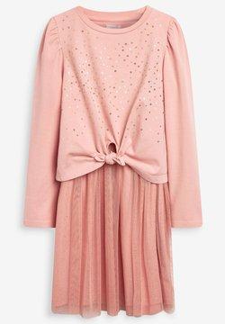 Next - SEQUIN MESH SET - Jerseykleid - pink