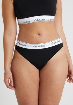 Calvin Klein Underwear - MODERN PLUS THONG - String - black