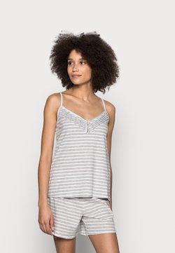 Marks & Spencer London - CAMI STRIPE  SET - Pyjama - grey