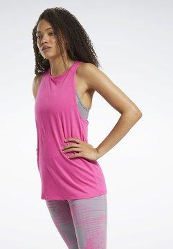 Reebok - BURNOUT TANK TOP - Top - pink