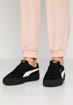 Puma - VIKKY STACKED - Matalavartiset tennarit - black/white