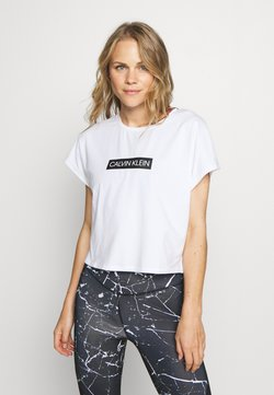 Calvin Klein Performance - SHORT SLEEVE - Camiseta estampada - white