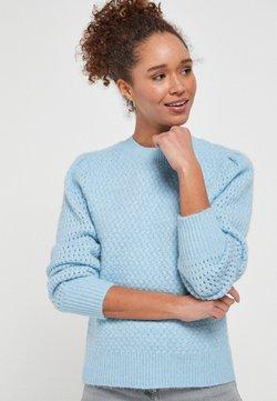 Next - SOFT TEXTURED - Sweter - blue