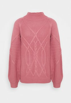 Dorothy Perkins Tall - CABLE HIGH NECK JUMPER - Strickpullover - pink