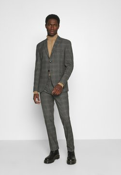 Selected Homme - SLHSLIM MYLOLOGAN SUIT - Anzug - grey/brown