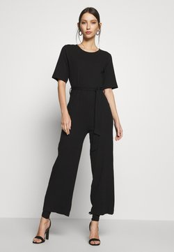 Even&Odd - BASIC - Jumpsuit with belt - Jumpsuit - black