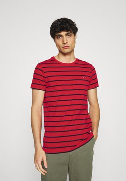 Tommy Hilfiger - STRETCH SLIM FIT TEE - T-Shirt basic - primary red/desert sky