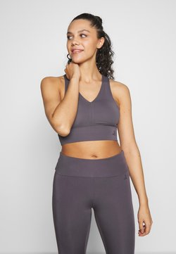Curare Yogawear - BRA NECKLINE BACK - Urheiluliivit - greyberry