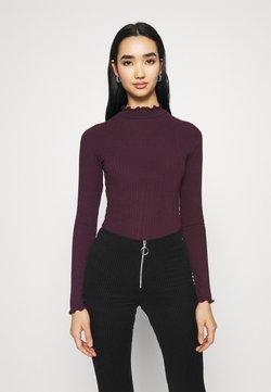 New Look - TURTLE NECK BODY - Langarmshirt - dark burgundy