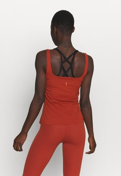 Nike Performance - THE YOGA LUXE TANK - Top - rugged orange/light sienna