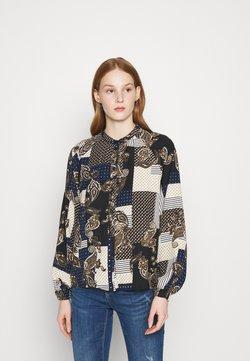 Vero Moda - VMHILDA SHIRT  - Button-down blouse - navy blazer