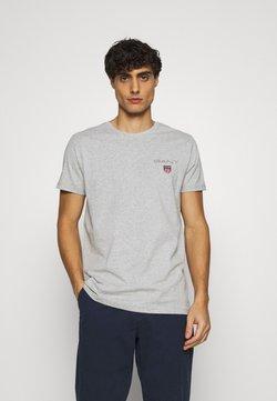GANT - MEDIUM SHIELD - T-shirt basic - light grey melange
