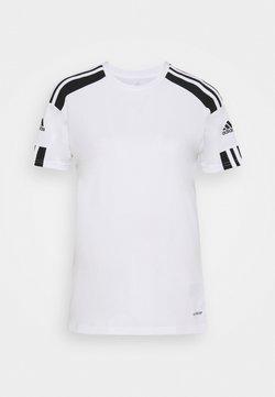adidas Performance - SQUADRA 21 - Printtipaita - white/black