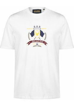 Lyle & Scott - CREST - T-shirt print - white