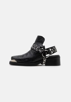 The Kooples - BOTTINES WESTERN CROCO - Ankle Boot - black
