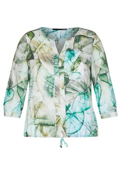 LeComte - MIT MUSTER UND TUNNELZUG - Bluse - olive, white, turquoise
