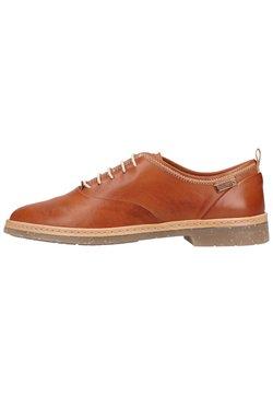 Pikolinos - Sznurowane obuwie sportowe - brandy