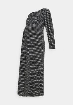 MAMALICIOUS - MLWILD DRESS - Długa sukienka - black/white