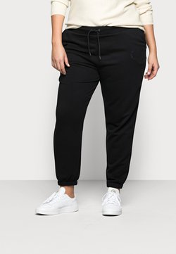 Noisy May Curve - NMLUPA LOGO PANTS - Jogginghose - black