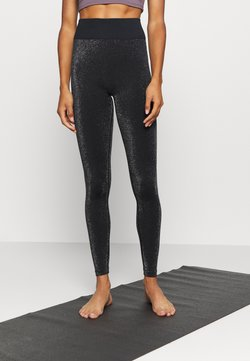South Beach - HIGH WAISTED SEAMLESS LEGGING - Medias - black