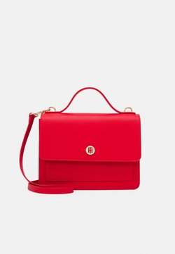 Tommy Hilfiger - HONEY FLAP SATCHEL - Handbag - red