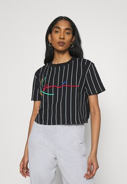 Karl Kani - SIGNATURE PINSTRIPE TEE - T-Shirt print - black