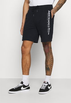 Abercrombie & Fitch - TECH LOGO - Shorts - black