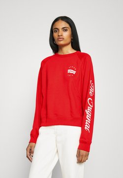 Levi's® - GRAPHIC EVERYDAY CREW - Sweatshirt - poppy red