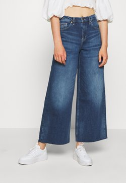 Tommy Jeans - WIDE LEG ANKLE - Flared Jeans - cony dark blue comfort