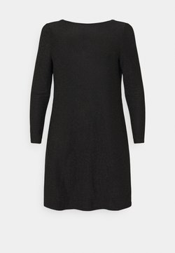 ONLY Carmakoma - CARDARY GLITTER KNEE DRESS - Cocktail dress / Party dress - black
