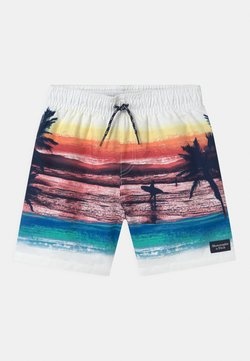 Abercrombie & Fitch - ISLAND PHOTOREAL - Swimming shorts - white