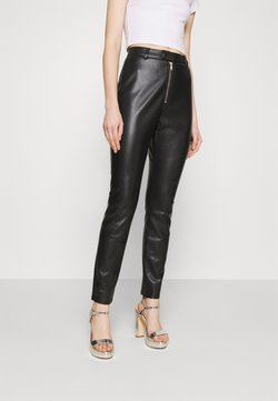 Nly by Nelly - ZIPPER PANTS - Trousers - black