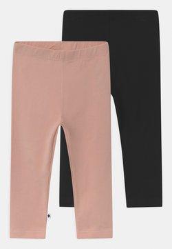 Molo - NETTE 2 PACK UNISEX - Legging - black/blush
