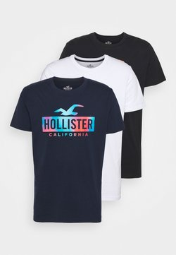 Hollister Co. - WEBEX PRINT 3 PACK - T-shirt z nadrukiem - white