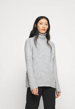 Anna Field - TURTLE NECK- WOOL BLEND - Stickad tröja - mottled light grey