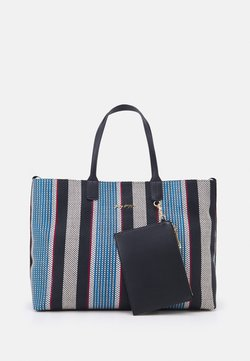 Tommy Hilfiger - ICONIC TOTE STRIPES SET - Shopping bag - blue
