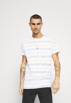 Brave Soul - REEF - T-shirt imprimé - optic white/bottle green/yellow