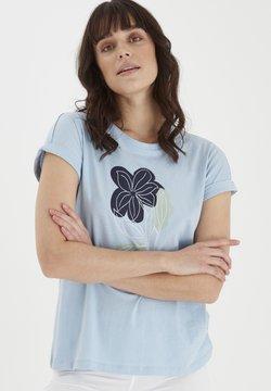 Fransa - MIT FLORALEM PRINT - T-Shirt print - cashmere blue