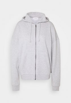 Even&Odd - OVERSIZE ZIP-UP HOODIE JACKET - Hoodie met rits - mottled light grey