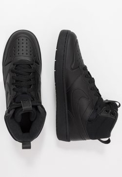 Nike Sportswear - COURT BOROUGH MID  - Korkeavartiset tennarit - black